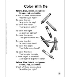 Color With Me (Color Words): Sight Words Poem