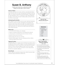 Literacy-Building Booklet: Susan B. Anthony