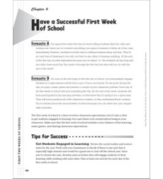 Have a Successful First Week of School: Classroom Management (First Two Weeks of School)
