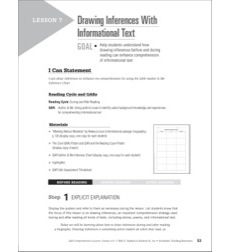Drawing Inferences With Informational Text: QAR Comprehension Lessons (Grades 6–8)