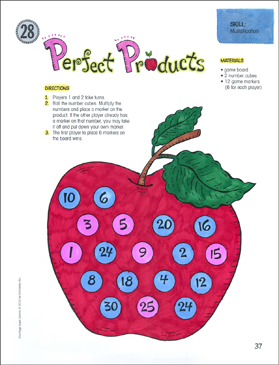 Perfect Products (Multiplication): One-Page Math Game