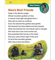 Dian Fossey (April/Earth Day): Famous American of the Month