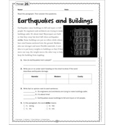 Earthquakes and Buildings: Grade 4 Close Reading Passage