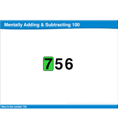Mentally Adding & Subtracting 100: Math Lesson