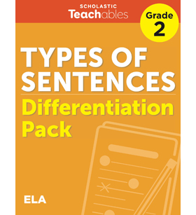 Types of Sentences Grade 2 Differentiation Pack