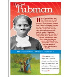 POP! Chart Notable African Americans: Tubman