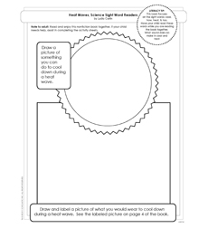 Science Sight Word Readers: Heat Waves - Activity Sheet
