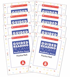 Guided Reading Nonfiction Focus: Grade 1 Practice Packs
