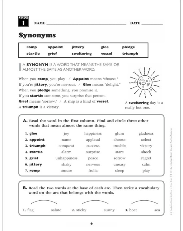 240 Vocabulary Words Kids Need to Know: Grade 4 by Linda ...