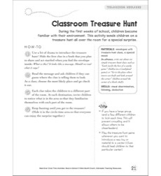 Classroom Treasure Hunt: Circle Time Activity