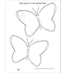 Circles on Butterflies: Pre-Writing Practice Page: Pre-Writing Practice Page