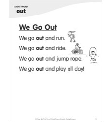 We Go Out (Sight Word 'out'): Super Sight Words Poem