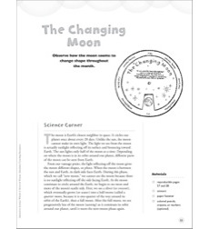 The Changing Moon: Interactive Science Wheel