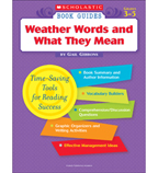 Scholastic Book Guides: Weather Words and What They Mean
