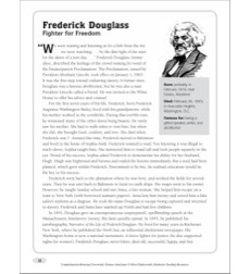 Frederick Douglass: Nonfiction Passage & Crossword Puzzle