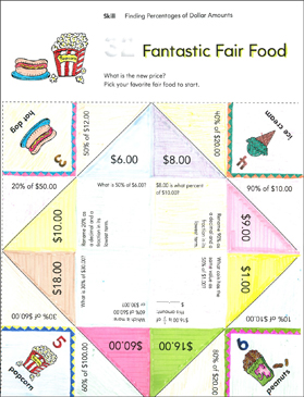 fantastic fair food finding percentages of dollar amounts fun