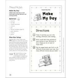 Make My Day (Sequencing Time): Telling Time Shoe Box Learning Center