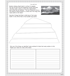 Peak - Activity Sheet