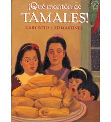 "A little girl must eat her way out of a quandry when she loses her mother's ring in the tamale batter. Captures ""family unity and the warmth of the holidays.""-Publishers Weekly"