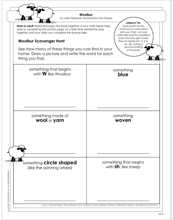 Woolbur Activity Sheet by Leslie Helakoski – Amigo Brothers Worksheets