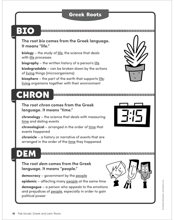 The greek and latin roots of english ebook array fab vocab greek u0026 latin roots by sheila wheaton rh shop scholastic com fandeluxe Image collections