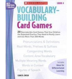 Vocabulary-Building Card Games: Grade 4
