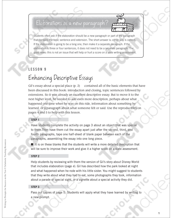 enhancing descriptive essays writing to prompts for success on enhancing descriptive essays writing to prompts for success on the test