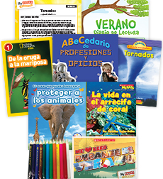 My Books Summer Spanish Grade 1 Nonfiction Pack