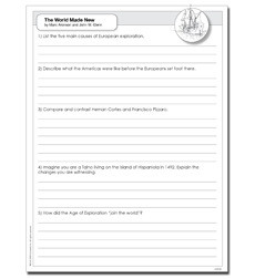 World Made New, The: Why the Age of Exploration Happened & How It Changed the World - Activity Sheet