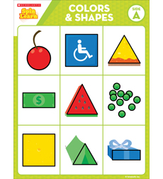 Colors & Shapes: Spin-to-Learn: A BINGO Game