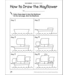 How to Draw the Mayflower: Draw and Write Prompt