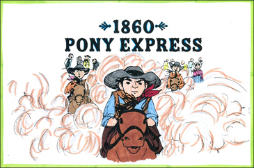 1860: Pony Express: Pioneer Mini-Book