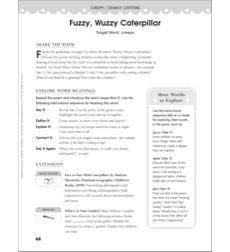 Fuzzy, Wuzzy Caterpillar (Target Word - creeps): Perfect Poems for Teaching Vocabulary