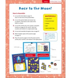 Race to the Moon! (Adding basic facts): Pocket-Folder Center