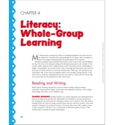 Literacy - Whole-Group, Small-Group, and Independent Learning: Kindergarten in Photographs