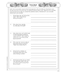 Library Mouse - Activity Sheet