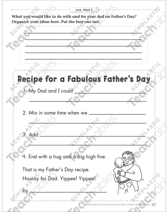 Recipe for a Fabulous Father\'s Day (Organizing Ideas): June Poetry ...
