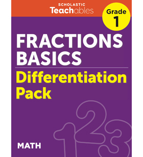 Fractions Basics Grade 1 Differentiation Pack