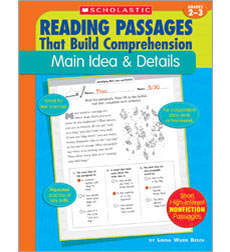 Reading Passages That Build Comprehension: Main Idea & Details