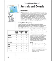 Australia and Oceania (Reading a Political Map): Map Skills - Grades 4-8