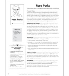 Literacy-Building Booklet: Rosa Parks