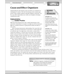 Cause-and-Effect Organizers: Better Than Book Reports