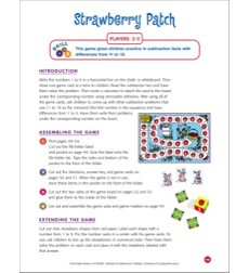 File-folder Game - Subtraction: Strawberry Patch (subtraction facts from 11 to 18)