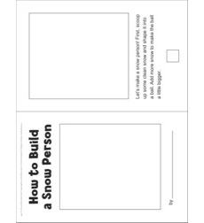 How to Build a Snow Person (Winter): Sequencing Mini-Book