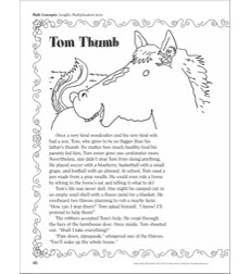 Tom Thumb (Length, Multiplication Facts): A Funny Fairy Tale Math Activity