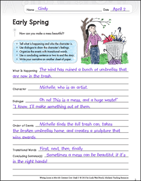 Early Spring (Narrative): Grade 5 Common Core Writing Lesson