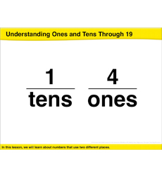 Understanding Ones and Tens Through 19: Math Lesson