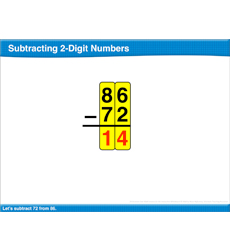 Subtracting 2-Digit Numbers: Math Lesson