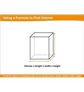 Using a Formula to Find Volume: Math Lesson