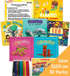 My Books Summer Spanish PreK Nonfiction - Classroom Set